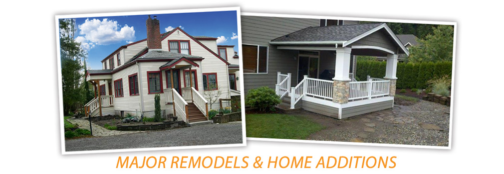 major remodels, home additions, everett, marysville, wa